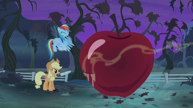 File:Rainbow Dash fanning the scent S4E07.png