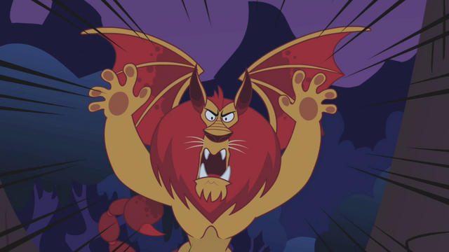 File:Manticore intimidating roar S01E02.png