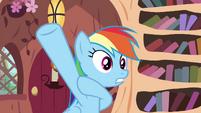 Rainbow raising her hoof S4E21