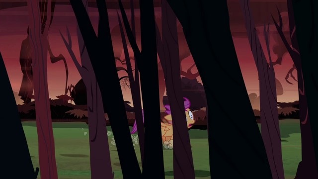 File:Scootaloo running through the forest S3E06.png