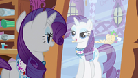 Rarity & Spike in reflection S3E11
