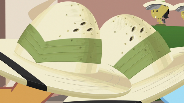 File:Close-up of Rainbow and Quibble's pith helmets S6E13.png