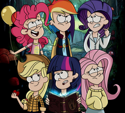 File:FANMADE Gravity Falls main six.png