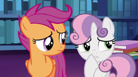 Sweetie Belle thinking for a moment S6E19