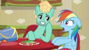 Zephyr Breeze flirting with Rainbow Dash S6E11