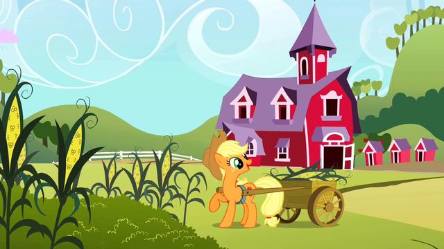 File:Applejack harvesting corn S2E01.png