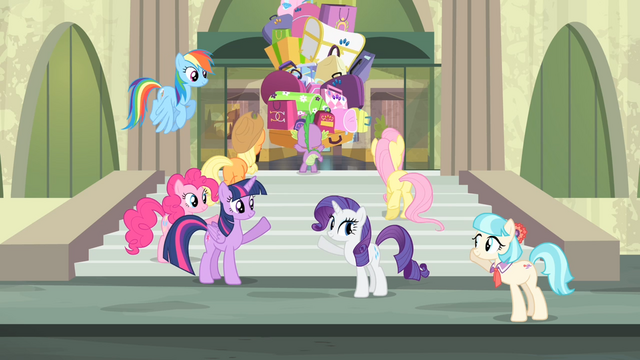 File:Main cast and Coco waving at each other S4E08.png