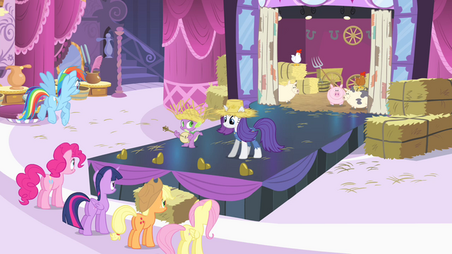 File:Rarity and Spike on catwalk S4E13.png