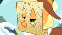 Applejack wearing a map on her face S2E11