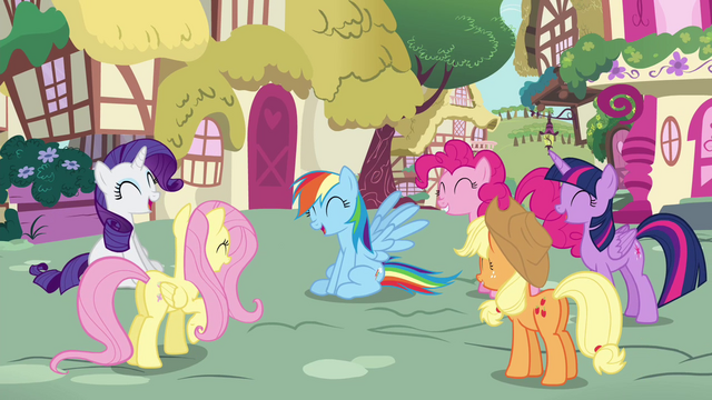File:Rainbow and friends laughing S4E21.png