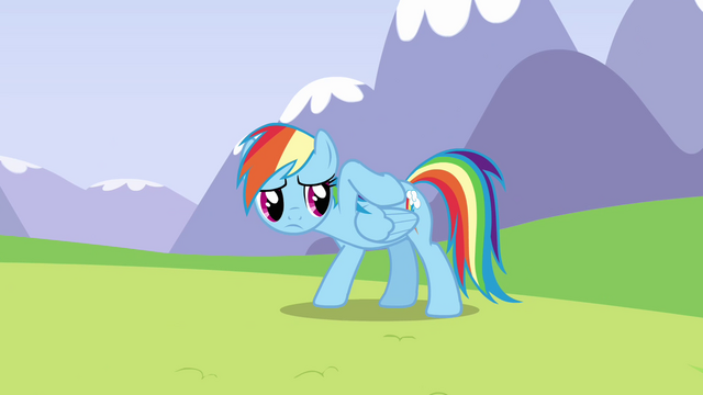 File:Rainbow feeling her back S3E7.png