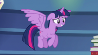 Twilight Sparkle grinning nervously S6E21