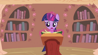 Twilight Sparkle looking at calendar S2E03