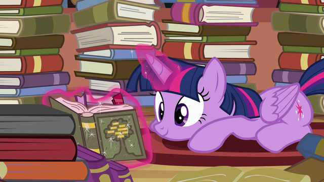 File:Twilight Sparkle reading S4E09.png
