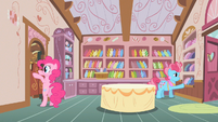 Mrs. Cake restocking candy S2E13