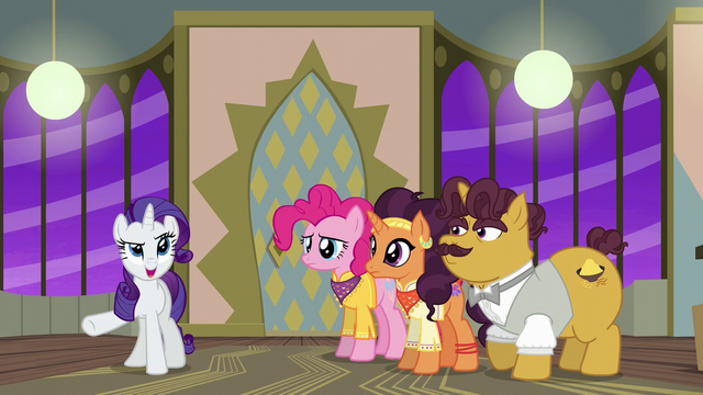 "File:Rarity ""we helped save the restaurant"" S6E12.png"
