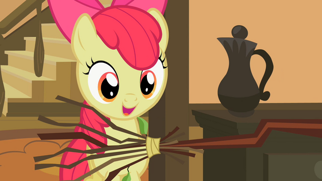 File:Apple Bloom and a broom S2E12.png