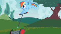 Rainbow Dash obtaining the mower S2E08
