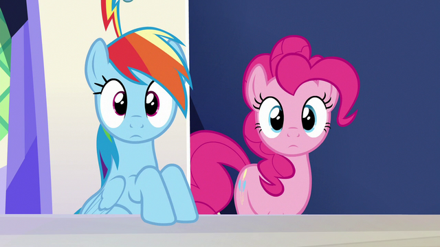 File:Rainbow and Pinkie look at Rarity S6E15.png