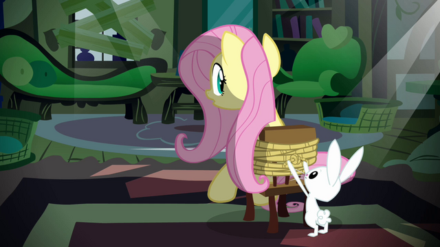 File:Angel tying up Fluttershy S2E19.png