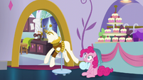 Pinkie with dress part on her mane S5E14