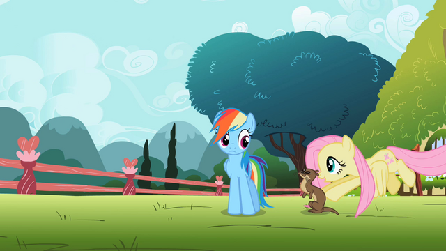 File:Fluttershy pushing otter S2E07.png