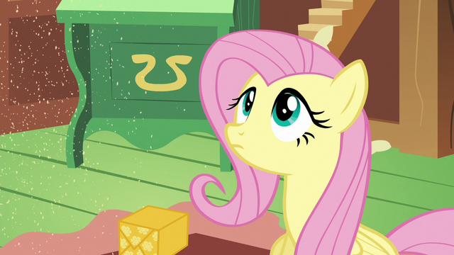 File:Fluttershy stares at the sprinkling sand S6E17.png