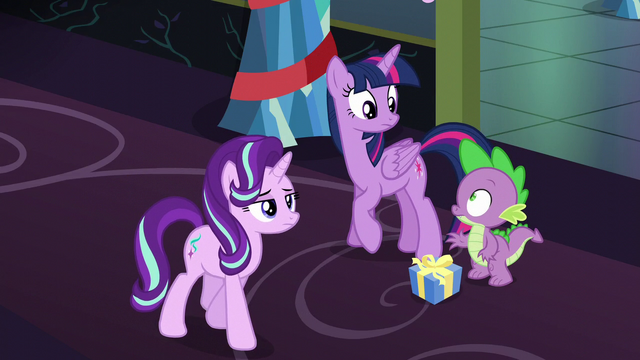 File:Starlight walks away; Twilight and Spike look at each other S6E8.png