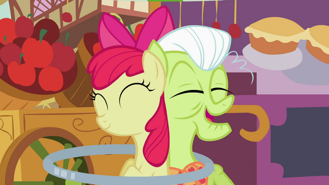 File:Granny Smith enjoys Apple Bloom's new talent S2E06.png