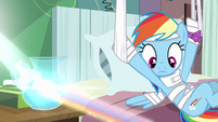 Rainbow Dash looking at rainbow S4E10