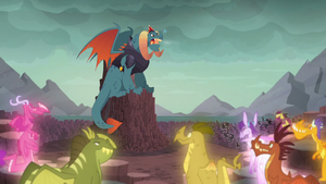 The dragons listen to Dragon Lord Torch S6E5