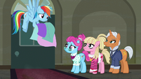 Rainbow Dash not sure who to hire S6E9