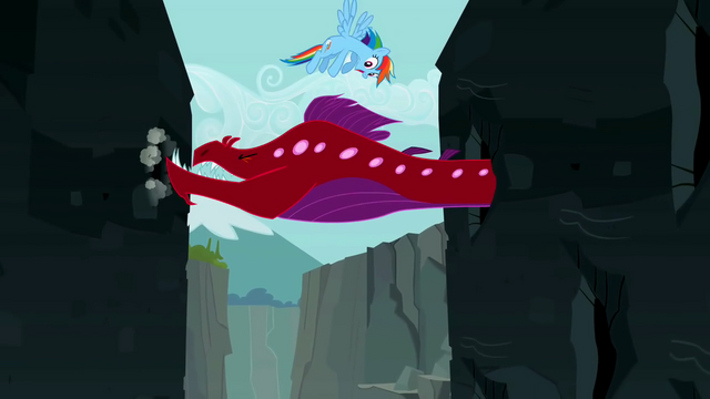 File:Rainbow Dash flying around the Quarray eel S2E07.png