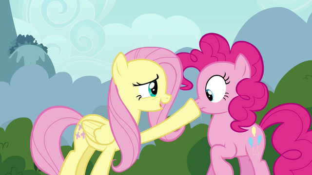 "File:Fluttershy and Pinkie Pie ""don't want to startle them"" S4E16.png"