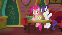 "Rarity whispering ""no rating"" S6E12"