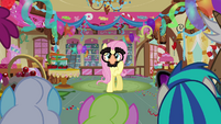 Fluttershy wearing Groucho glasses S03E13