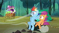 Scootaloo and Rainbow feeling the wind S3E6