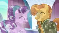 Starlight Glimmer and Sunburst happy S6E2