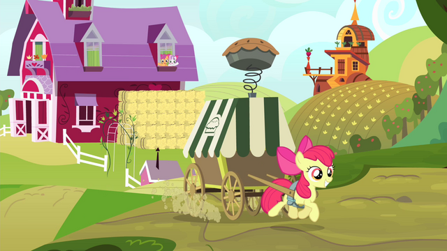 File:Apple Bloom pulling pie cart S4E17.png