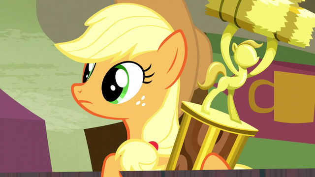 File:Applejack watching rodeo clowns S5E6.png