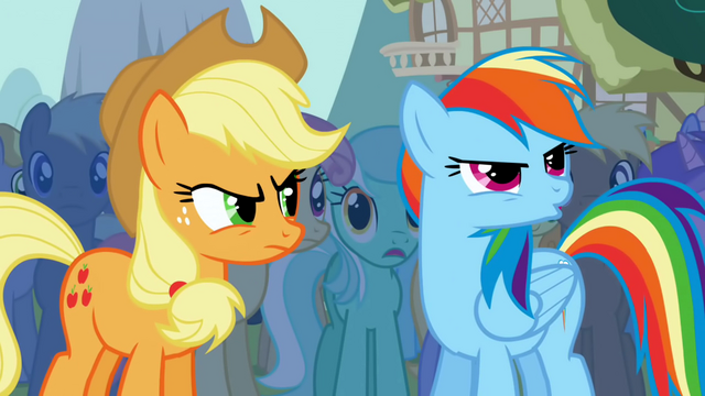 File:Rainbow Dash boos at Trixie S1E06.png