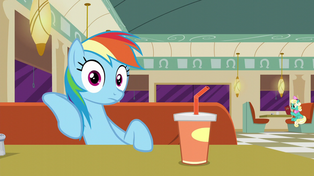 File:Rainbow Dash hearing Lede writing S6E9.png