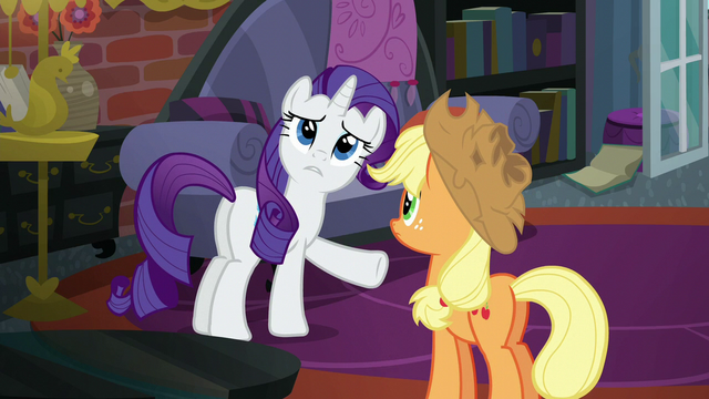 "File:Rarity ""we've clearly found it"" S5E16.png"