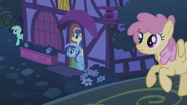 File:Several ponies come out of their homes S1E06.png