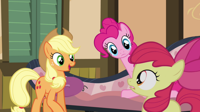 "File:Applejack calls Bloom the ""playful one"" S4E09.png"