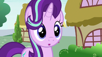 Starlight hears Applejack and Rarity laughing S6E25