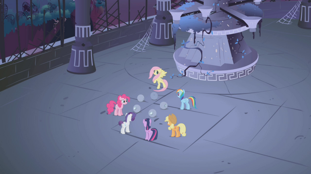 File:Mane 6 around the stone Elements S1E02.png