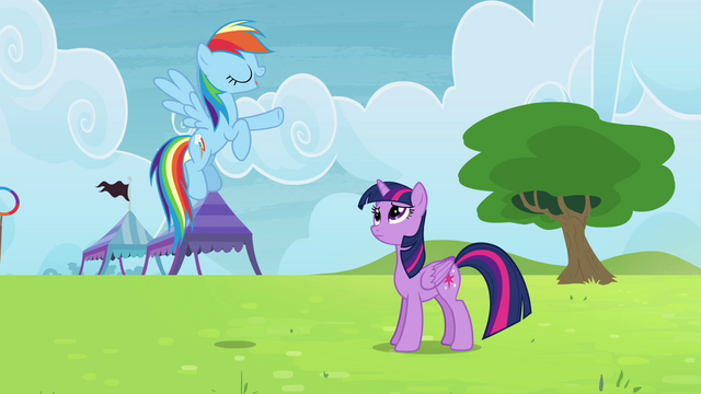 "File:Rainbow Dash ""Ponyville will still qualify"" S4E10.png"