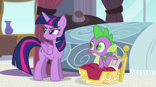 """File:Twilight and Spike """"could be morning"""" S4E01.png"""