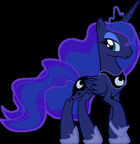 File:FANMADE Princess Luna transparent background.png